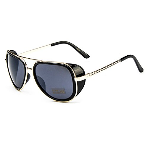 Iron Man 3 Tony Oversized Double Beam Driving Sunglasses Frog Mirror Glasses - Sunglass Coupons In Hut Store