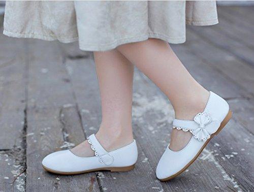 Ohmais Sandaletten Mädchen Mädchen Kleinkinder flach Kinder Halbschuhe Sandalen Weiß Ballerinas Sandalette Freizeit wBrwO