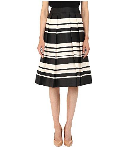 Kate Spade New York Women's Cape Stripe Organza Skirt, Black/Cream 6