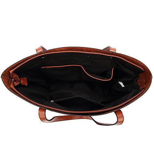 Bolso Brown Mujer 31cm Capacidad Bolsa Dama 15 Gran Viaje Joker De Bandolera Mensajero Clásico Tamaño Negro color 35 Multifunción Para 6gxqrU6B