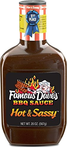 Famous Dave's BBQ Sauce, Hot & Sassy, 20 Oz