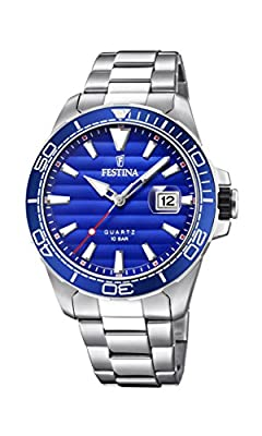Men's Watch Festina - F20360/1 - Quartz - Date - Navy Blue and Steel - Stainless-Steel by FESTINA