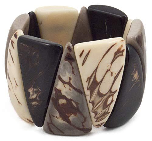 Organic Tagua Blanca Bracelet  Ecuador Onyx Combo