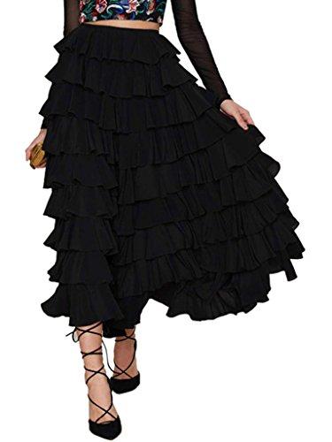 Buy dress with a flounce skirt - 1