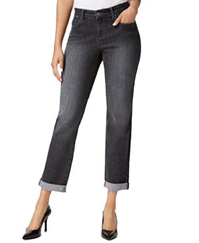 Style & Co. Curvy-Fit Cuffed Boyfriend Jeans (Hollow, 14) (Fit Jean Curvy)