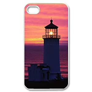 Lighthouse Customized Cover Case with Hard Shell Protection for Iphone 4,4S Case lxa378328
