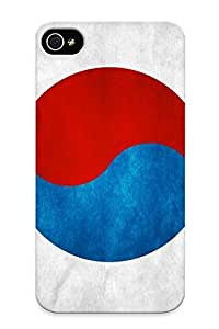 Crooningrose Anti-scratch And Shatterproof Korea Flag Phone Case For Iphone 4/4s/ High Quality Tpu Case wangjiang maoyi