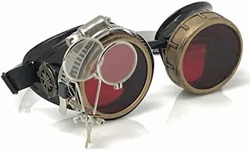 b707c09274765 UMBRELLALABORATORY Steampunk Victorian Style Goggles with Compass Design
