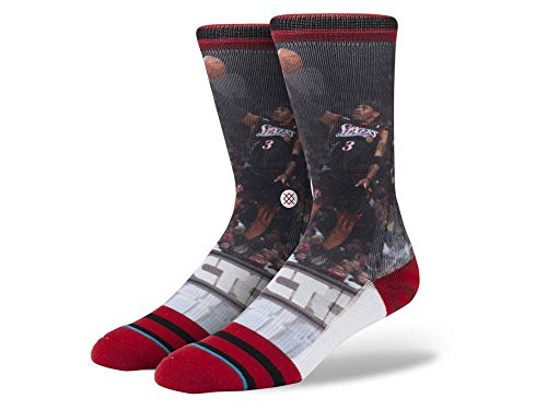 fan products of Stance Allen Iverson Socks Sixers Mens Large (9-12)