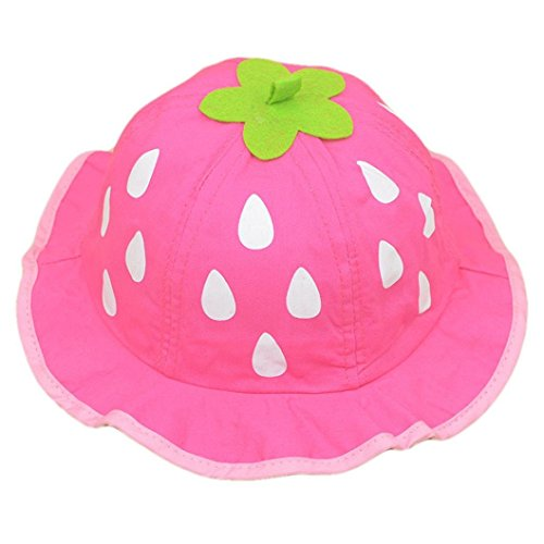 [Usstore Kids Newborn Baseball Sunhat Strawberry Hat Headband Cap (Hot Pink)] (90s Era Costumes)