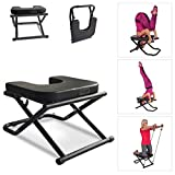 Apelila Yoga Chair Inversion Bench - Stand Yoga Chair Headstander for House, Gym Build Up Body Ideal Chair for Shoulderstand, Practice Head Stand, Headstand Bench