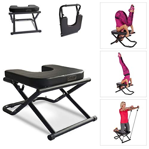 (Apelila Yoga Chair Inversion Bench - Stand Yoga Chair Headstander for House, Gym Build Up Body Ideal Chair for Shoulderstand, Practice Head Stand, Headstand Bench)