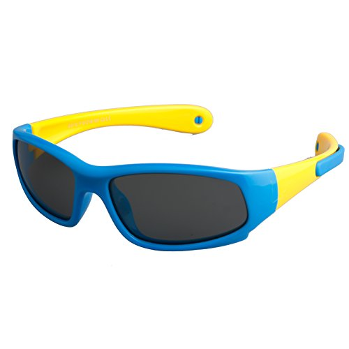 Kids Sports Polarized Sunglasses Gifts for Boys /Girls/Child Glasses with - Flexible Sunglasses Polaroid