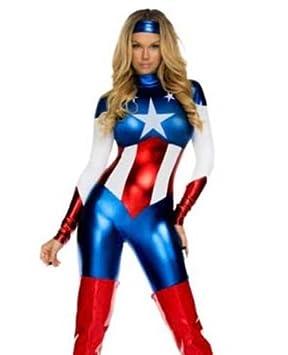 Ladies The Avengers Captain America Fancy Dress Womens Superhero Costume size 6- 10 10414  sc 1 st  Amazon UK & Ladies The Avengers Captain America Fancy Dress Womens Superhero ...