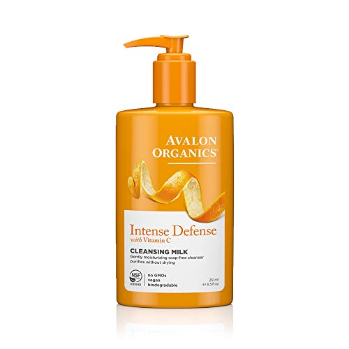 - Avalon Organics Intense Defense Cleansing Milk, 8.5 oz.