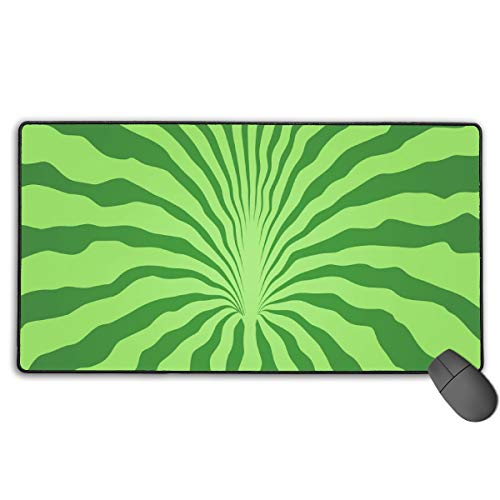 GGlooking Mousemat Watermelon Rind Mouse Pad Gaming Mat Computer Mousepad Large Non-Slip Keyboard Desk Accessories,Office & School Supplies]()