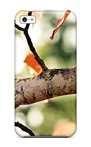 First-class Case Cover For Iphone 5c Dual Protection Cover Fall Tree