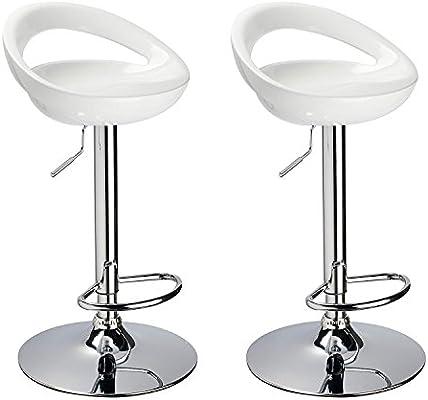 Superb Amazon Com Adi Contemporary Air Lift White Swivel Bar Theyellowbook Wood Chair Design Ideas Theyellowbookinfo