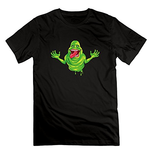DOSTK Men's Ghostbusters Slimer Logo Crazy T Shirts Black ()