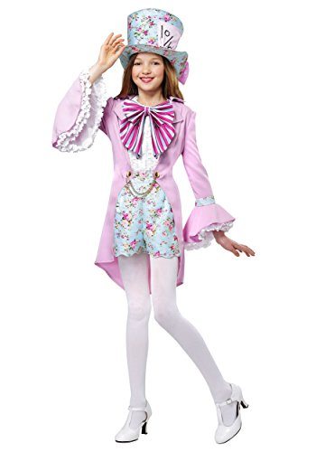 The Mad Hatter Girl Costumes - Pretty Mad Hatter Girls Costume Medium