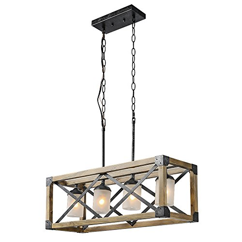 Rectangle Pendant Light Fixtures in US - 9