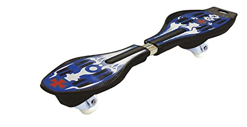 Ripstik Caster Board - Radically Intense Acceleration Waveboard with 360 Degree Caster Trucks and Anti Slip Concaved Platform Kids Ages 8 and Up | Portable Lightweight Wave Board | Skateboard - Blue
