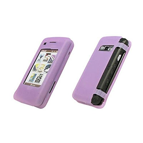 Premium Transparent Purple Silicone Gel Skin Cover Case for LG enV Touch VX11000 [Accessory Export Brand Packaging]