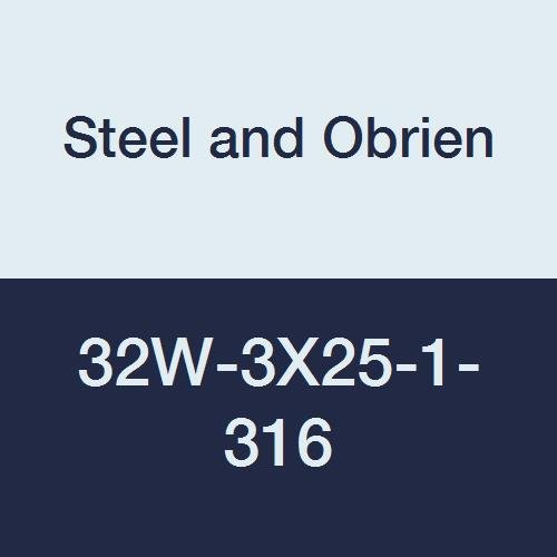 Steel and Obrien 32W-3X25-1-316 Stainless Steel 32W Eccentric Reducer 3 x 2-1//2