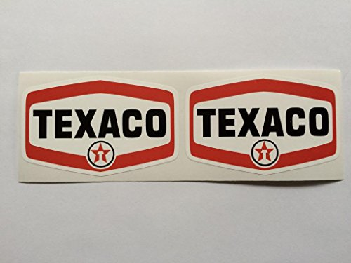 Tank Texaco - 2 Texaco Badge Style Die Cut Decals by SBD DECALS