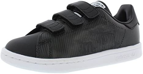 first rate f6cc3 3bff5 adidas Boys' Stan Smith - At-At Preschool Shoe 3 M US Black ...