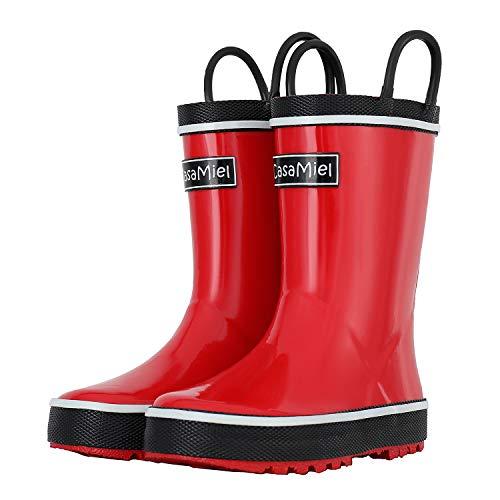 CasaMiel Kids Rain Boots for Boys Toddler Rain Boots for Girls, Handmade Natural Rubber Boots for Children]()