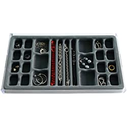 Jewelry Organizer Stack Em' 26 compartments All In One Drawer Jewelry Tray, Axis 3331