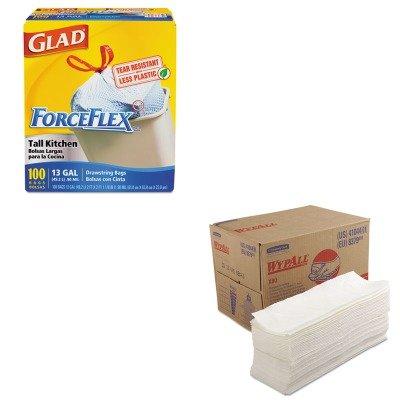 kitcox70427kim41044-value-kit-kimberly-clark-wypall-x80-wipers-kim41044-and-glad-forceflex-tall-kitc