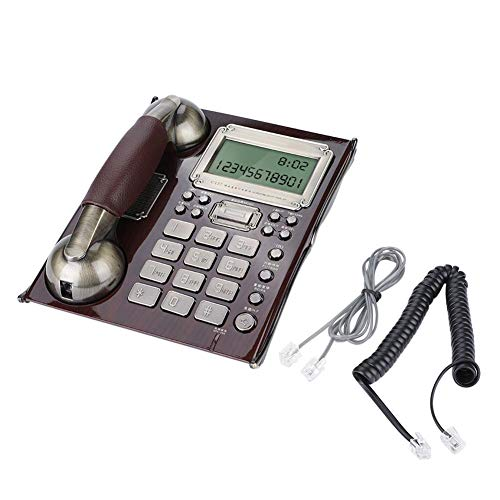 Tosuny Corded Phone, Landline Telephone European Antique Vintage Fixed TelephoneCaller ID Backlit Display Desktop Corded Telephone for Home(Red Walnut) from Tosuny