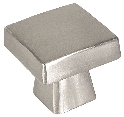 - 10 Pack - Cosmas 5233SN Satin Nickel Contemporary Square Cabinet Knob