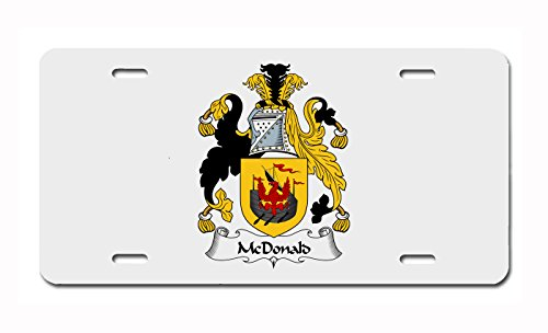 McDonald Coat of Arms/McDonald Family Crest License Plate ()