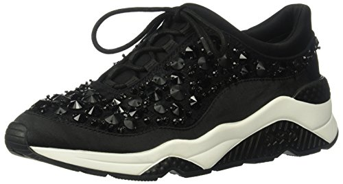 (Ash Women's Muse Beads Sneaker, Black, 37 Medium EU (7 US))