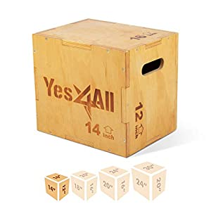 Well-Being-Matters 41wlHLWY2FL._SS300_ Yes4All Wooden Plyo Box, Easy-to-Assemble Plyometric Jump Box for Jumping Trainers, Workout Step Platform, HIIT…