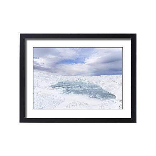 Media Storehouse Framed 24x18 Print of Landscape of Greenland Ice Sheet, Kangerlussuaq, Greenland, Denmark (18241935)