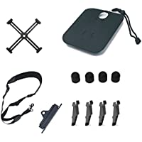 Rantow 5 Pieces Spark Drone Accessories Combo, Palm Landing Pad + Landing Height Extender + Neck Lanyard + Sling Bracket Combo + Propeller Clip + Motor Protector for DJI Spark Drone