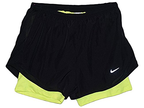 "Price comparison product image Nike Flex 2-in-1 Women's 3"" Running Shorts (Medium, Black/Volt)"