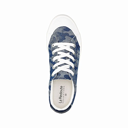 La Redoute Collections Frau Sneakers mit Camouflagemuster Gre 42 Blau