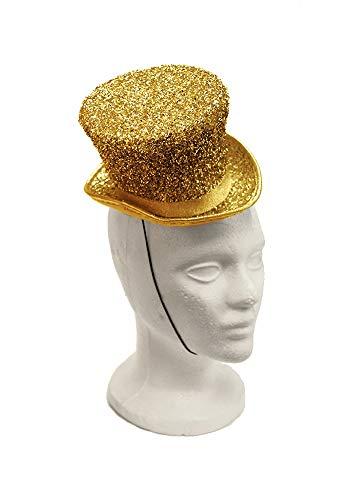 Arsimus Mardi Gras St. Patrick's Day Leprechaun Mini Party Hat (Gold) ()