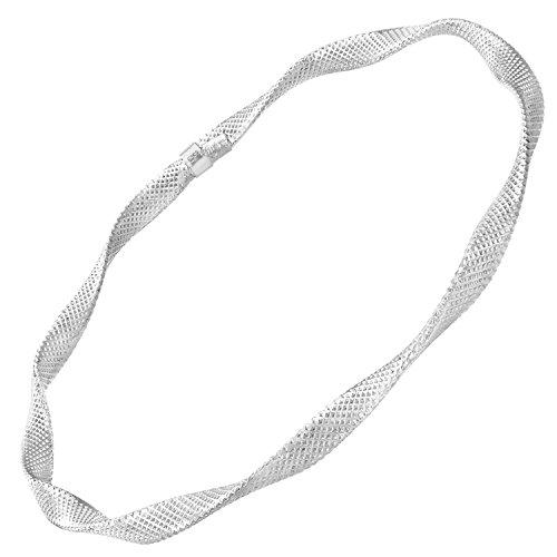 Revoni Bague en or blanc 9carats-Coupe Diamant de bracelet de diamètre 65mm