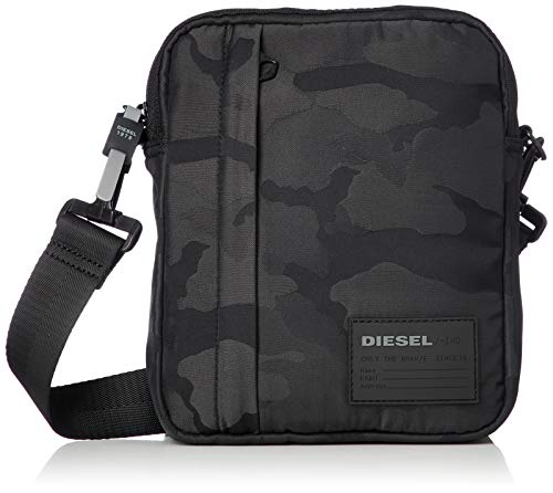 - Diesel Men's Discover ME Crossbody Bag, black, UNI