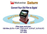 "Wolverine F2D Saturn Digital Film & Slide Scanner - Converts 120 Medium Format, 127 Film, Microfiche, 35mm Negatives & Slides to Digital - 4.3"" LCD, 16GB SD Card, Z-Cloth & HDMI Cable Included"