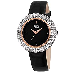 Swarovski Crystal & Diamond Accented Leather Strap Watch