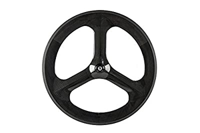 Sunrise Bike Tri-Spoke Carbon Wheelset Fixed Gear Bike Front Wheels 700c 23mm Width