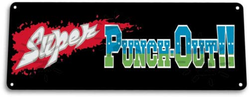 TIN Sign Super PunchOut Marquee Retro Video Game Mame Arcade Metal