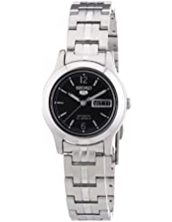 Seiko Womens SYMD99 Stainless Steel Analog with Black Dial Watch